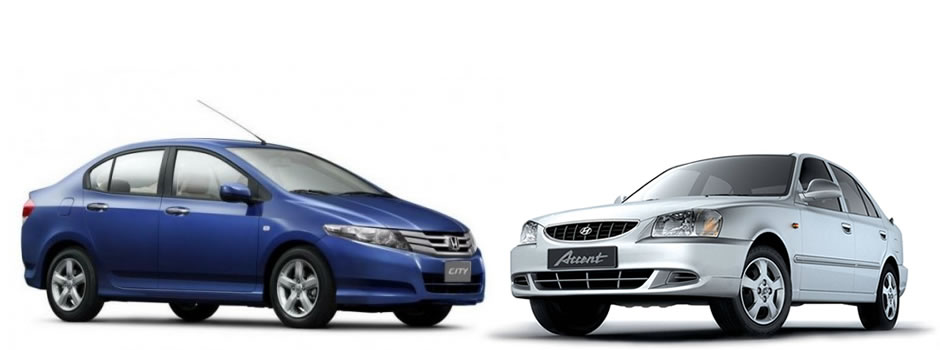 Honda city on rental
